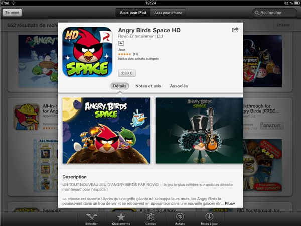 Angry Birds Space iOS Payant