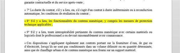 DRM MTP projet de loi Hamon