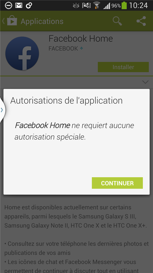 Facebook Home Galaxy S4