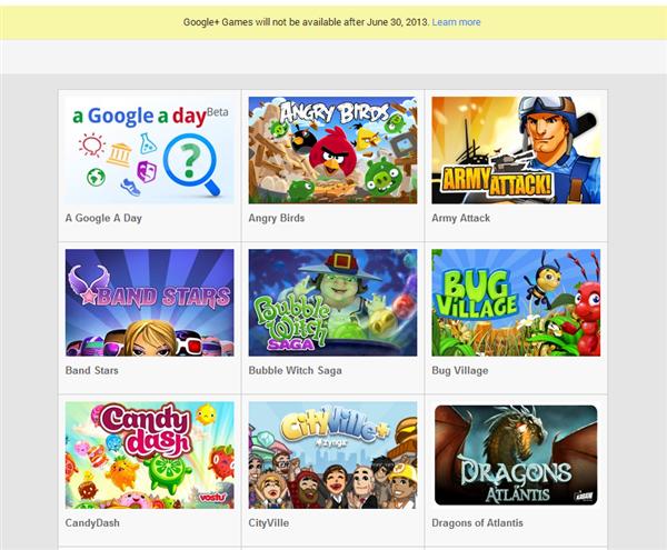 Google+ Games