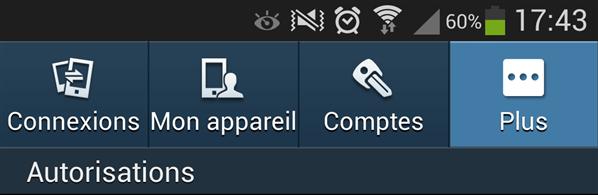 Galaxy S4 paramètres