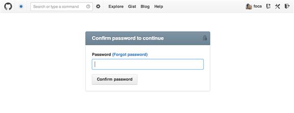 GitHub Password