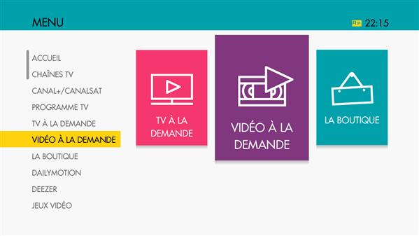 Sosh interface TV