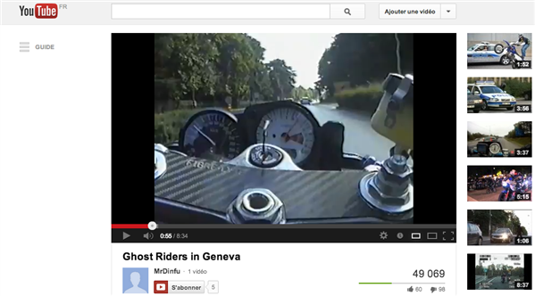 moto chauffard youtube