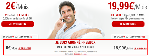 Freebox Free Mobile réduction