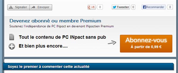 Abonnements PC INpact Juin 2013
