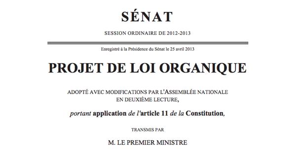 loi organique référendum