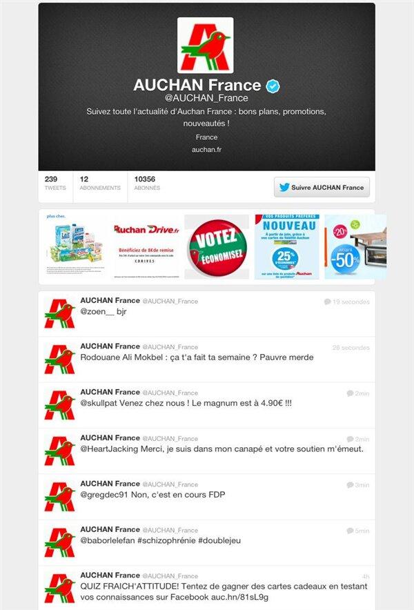 Auchan Twitter Piratage