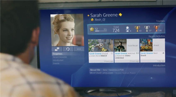 Interface PlayStation 4