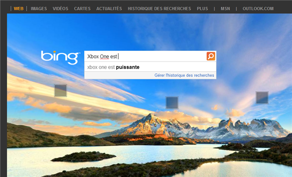 Xbox One Bing Google
