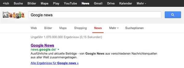 Google News Allemagne