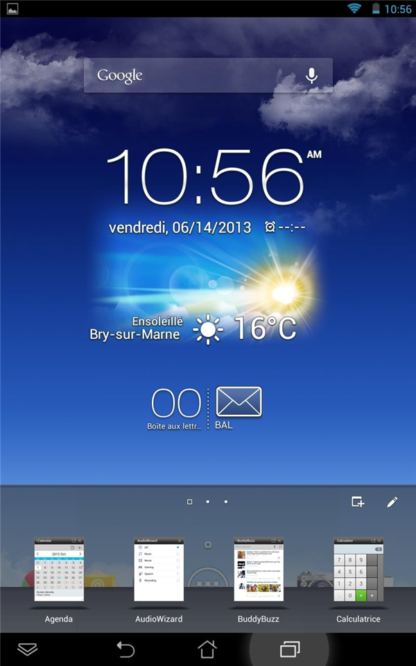 MeMO Pad HD 7 interface