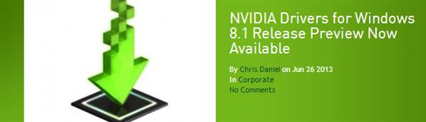 NVIDIA Windows 8.1 GeForce 326.01