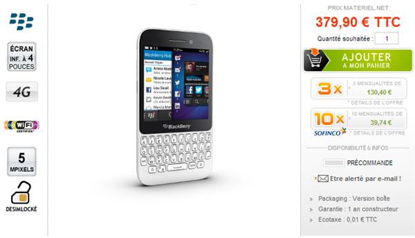 BlackBerry Q5 Materiel.net