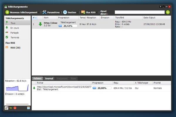 Freebox OS Téléchargement