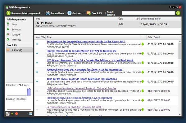 Freebox OS RSS