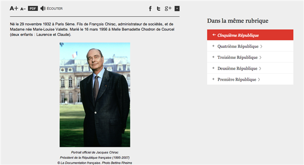 chirac site élysée