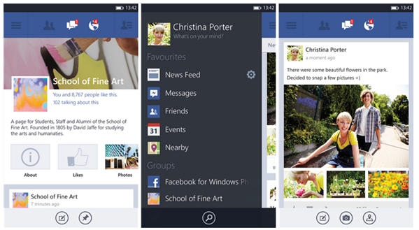 Facebook 5.0 Windows Phone 8