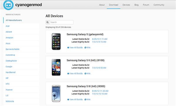 CyanogenMod site