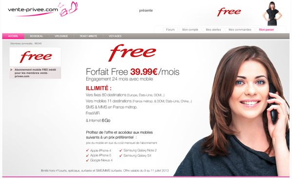 Free Mobile smartphone subventionné