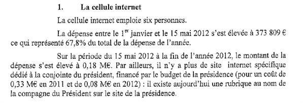 cellule internet élysée