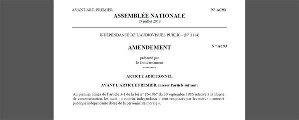 amendement CSA personnalité morale