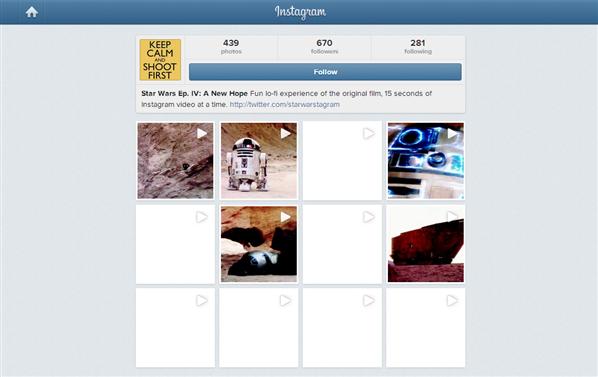 Star Wars IV Instagram