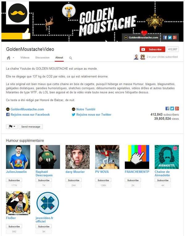 Studio Bagel Golden Moustache YouTube