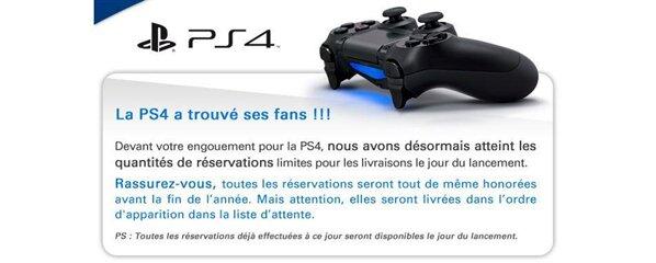 PlayStation 4 précommandes