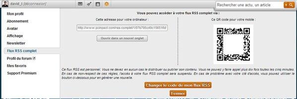 Flux RSS Premium