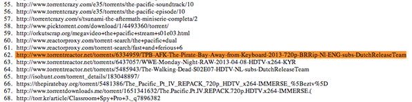 dmca pirate bay afk