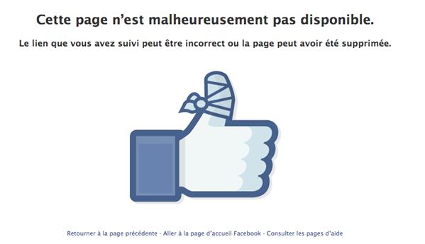 facebook pouce inaccessible