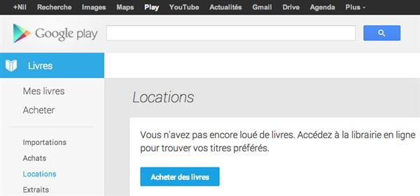 Google location livres