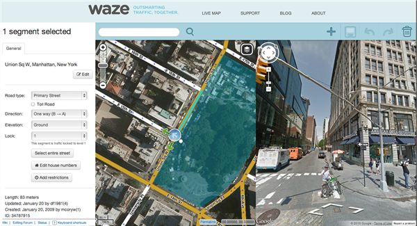screenshot waze
