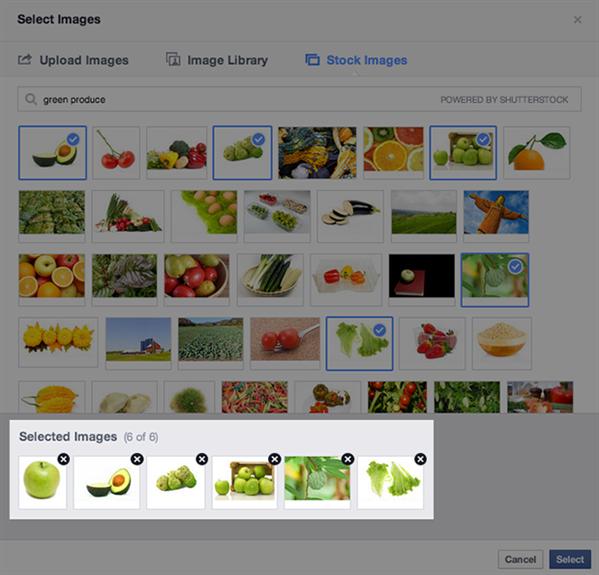 Facebook Publicité Shutterstock