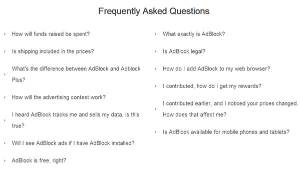 AdBlock Chrome Crowdfunding FAQ