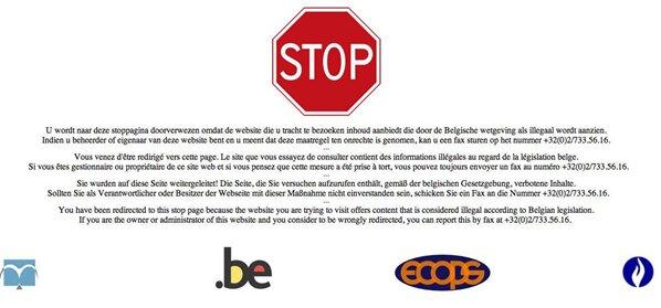 bannière blocage belgique via torrentfreak