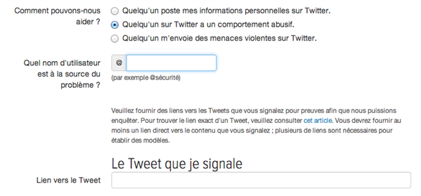 signalement twitter notification