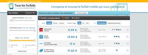 Afone Mobile Joe Mobile Tous les forfaits