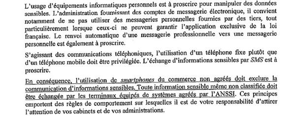 Note ministères Lexpress smartphones