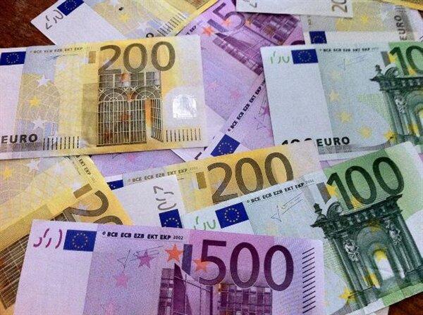 euro argent liquide billet
