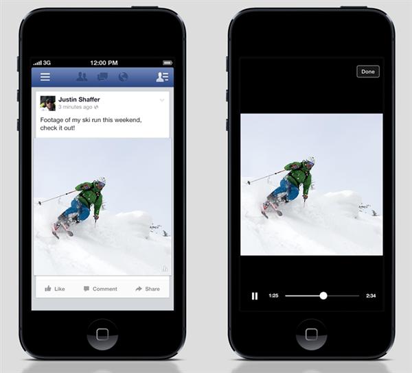 Facebook vidéo automatique
