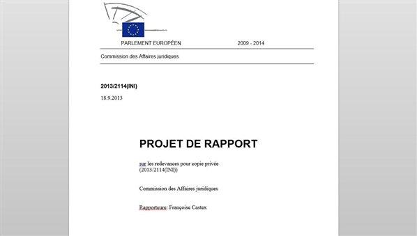 castex rapport copie privée