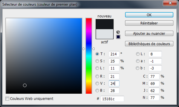 code couleur noir bleu elysee.fr