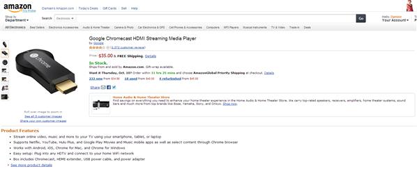 Chromecast Amazon