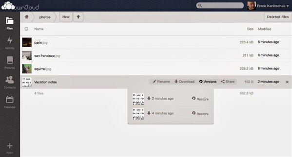 OwnCloud 6 alpha 1