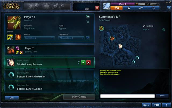 League of Legends matchmaking