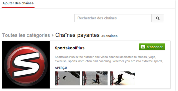 YouTube payant