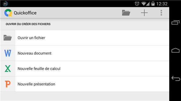 Android 4.4 Kitkat Quickoffice