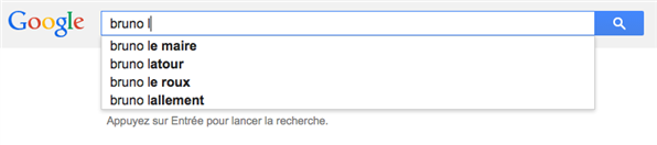 bruno google suggest